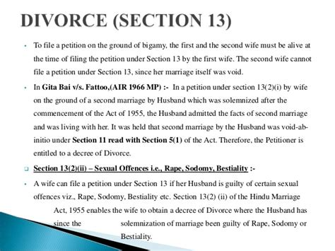section 13 hindu marriage act matrimonial remedies under hindu marriage act 1955