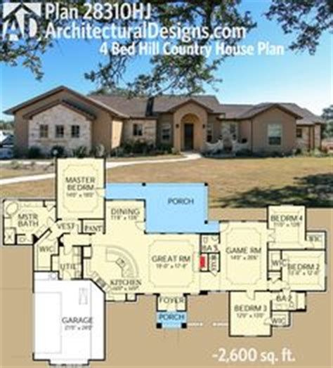 Plan 3877ja Rustic Angled Ranch Home Plan First Story 2600 Square Foot Ranch House Plans