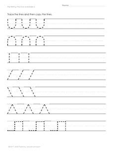 Pre Writing Strokes Worksheets by 13 Best Images Of Worksheets Pre Writing Strokes Pre
