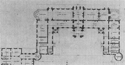 waddesdon manor floor plan detail of ground floor plan of waddesdon one of the many preliminary desgns for the