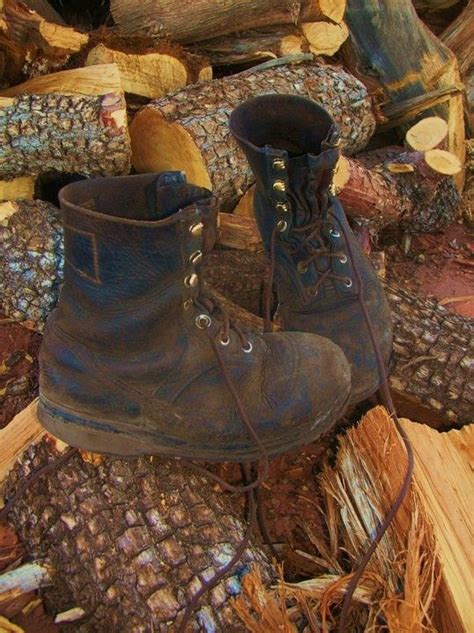 Handmade Leather Work Boots - handmade buffalo hide leather work boots after 7 years of