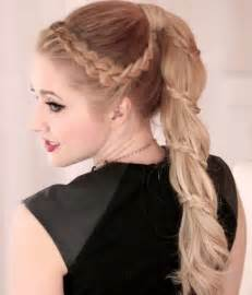 18 braided ponytail styles popular haircuts