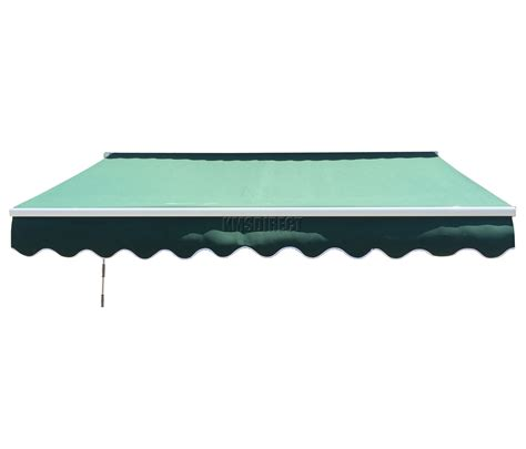 green awnings patio manual alu retractable awning canopy sun shade