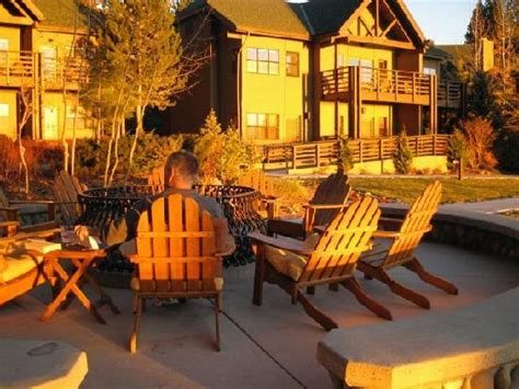 sunset view of cottage fire pit picture of hyatt regency