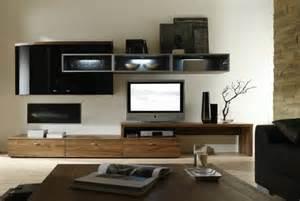 Merveilleux Amenagement Interieur Meuble Cuisine #3: meuble-tv-bois-meuble-tv-teck-salon-aménagement-moderne-mur-blanc1.jpg