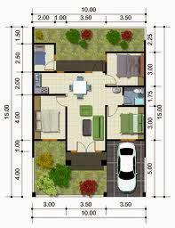kumpulan denah dan gambar rumah tipe 90 minimalis modern 2014