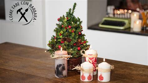 candele natale fai da te candele natalizie fai da te con trasferimento di immagine