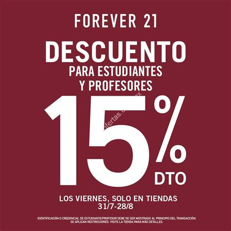 Forever In 15 promoci 243 n regreso a clases forever 21 15 de descuento en