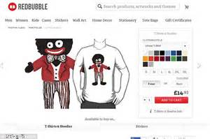 redbubble in fresh storm over selling golliwog print items