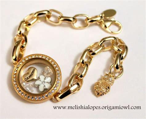 Origami Owl Gold - origami owl gold link locket bracelet gold