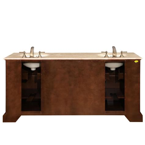 double ceramic kitchen sink 72 quot double sink cabinet travertine top undermount ivory