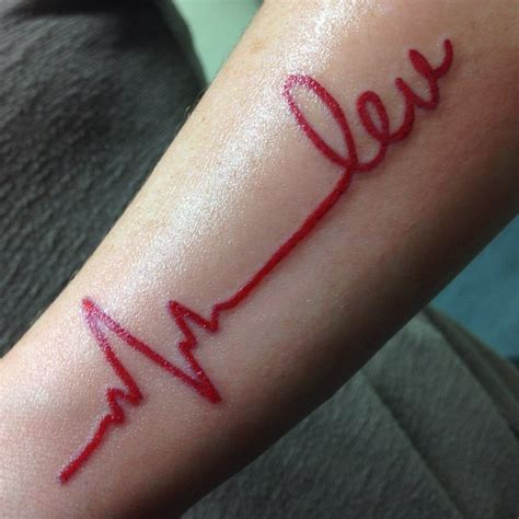 Heartbeat tattoo designs for 2016 tattoo ideas gallery amp designs