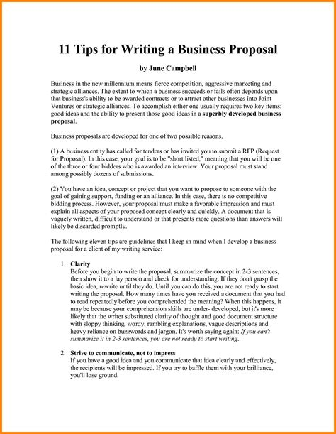 6 how to write a business proposal outline ledger paper
