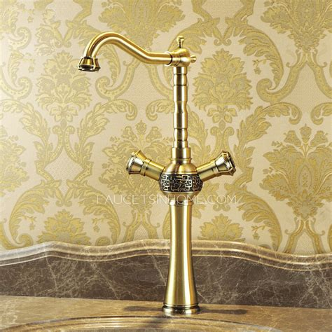 heightening antique bronze 2 handle kitchen sink faucets