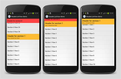 android listview headerlistview for android applidium