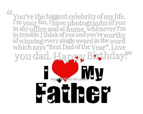 Birthday Quotes For Dads Happy Birthday Dad Quotes