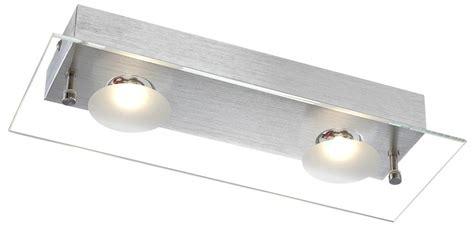 Glasplatte Beleuchten by Led Deckenle Aus Aluminium Und Klarer Glasplatte Berto