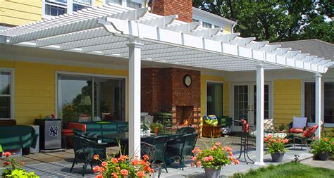 Pergola Design Ideas Attached Vinyl Pergola Kits Patio Attached Vinyl Pergola Kits