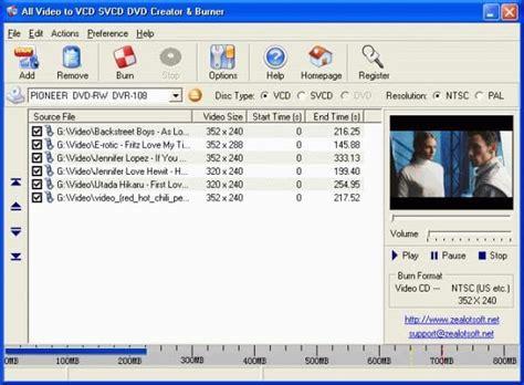 dvd format burner all video to vcd svcd dvd creator burner download