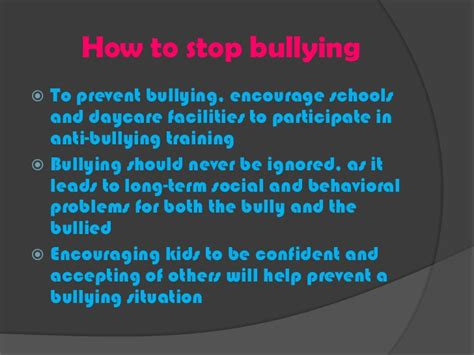 how to stop a from anti bullying presentation 1