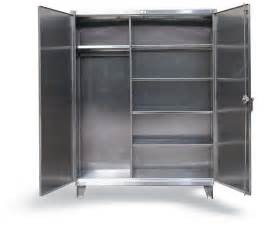 strong hold products stainless steel uniform cabinet