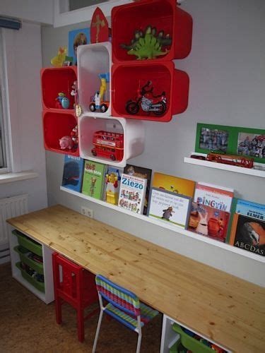 kids organization love the shelf for books above the desk great idea