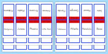 printable flash cards united states usa states and capitals flash cards us resources states