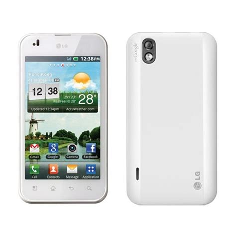 Hp Lg P970 White lg p970 android 2 3 large screen white black color price