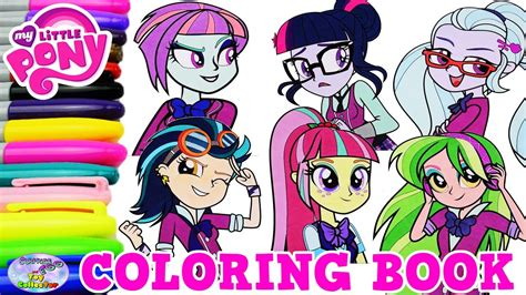 pony coloring book equestria girls shadowbolts