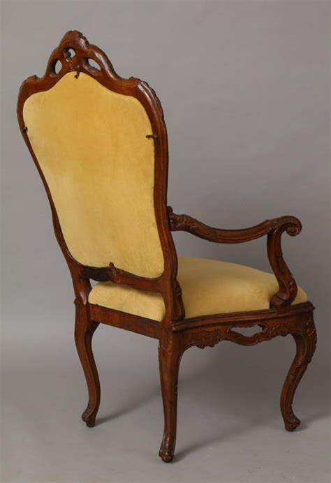 rococo armchair large venetian rococo carved walnut armchair for sale at