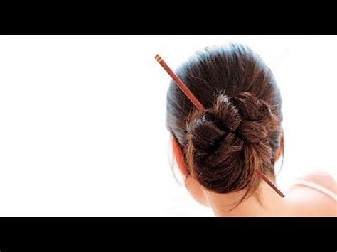 how to create hair stick hairstyles tips to jazz up hairst short hair chopsticks youtube