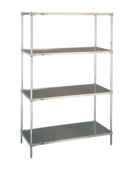 solid stainless steel shelving erecta solid shelving