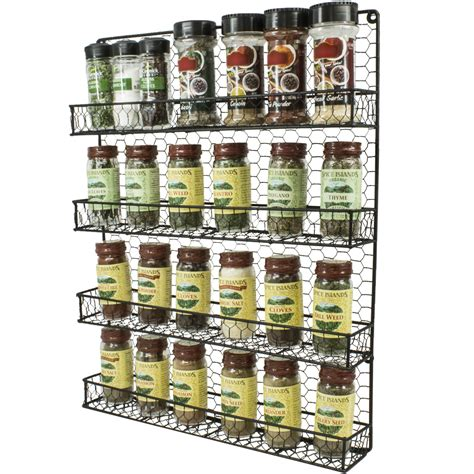 totemspice spice rack by purpose spice rack and multi purpose organizer 4 tier wall mounted storage rack sorbus