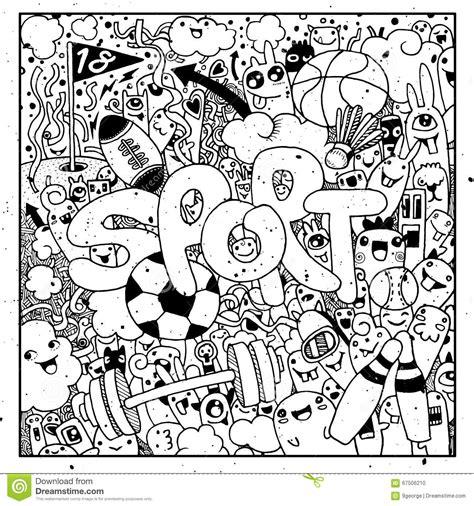 doodle jump x2 sport lettering and doodles elements background
