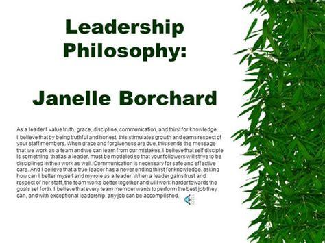 leadership philosophy template leadership philosophy authorstream