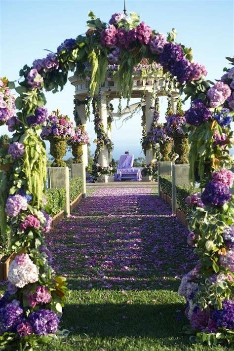 Wedding Aisle Entrance Ideas by Amazing Purple Wedding Ceremony Entrance Gorgeous