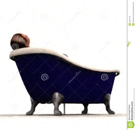 person in bathtub person in claw foot bathtub stock illustration image 13267739