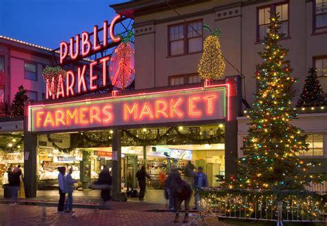 tree lughting seattle market seattle tacoma light shows