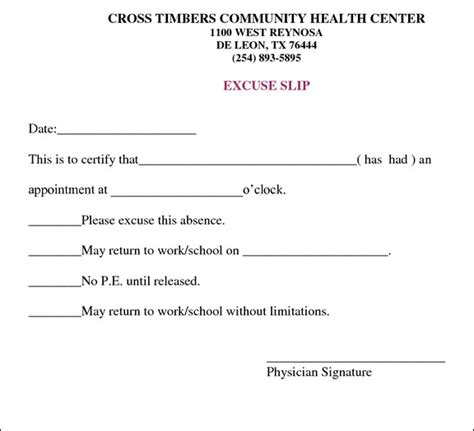 template for doctors excuse note 3 doctors note for work templates excel xlts