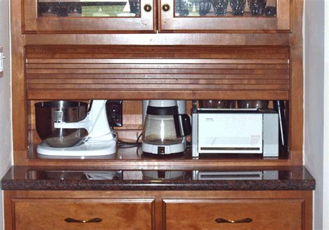 Appliance Garages Kitchen Cabinets | corner appliance garage cabinet rachael edwards