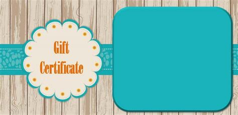 free gift certificate template for mac template