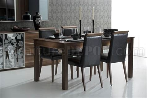 black finish modern dining table w optional side chairs brown finish modern dining table w optional items
