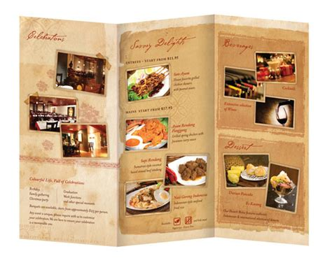 Cafe Brochure Design by 25 Restaurant Brochure Design Exles For Inspiration