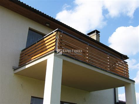 Wood Balcony Railing by Stairs Factory Metal Railings With Wooden Elements