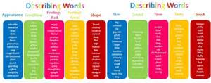 descriptive words list learning