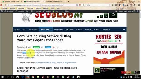 cara settingan tweekwer video max cara setting ping service di blog wordpress agar cepat