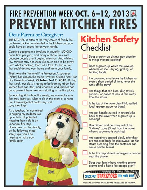 Safety Tips In Kitchen by Kitchen Safety Checklist From Nfpa Prevention