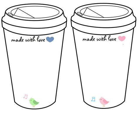 coffee cup template crochet coffee cup cozy to go cup template inserts