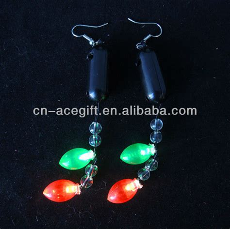 light up christmas earrings christmas novelty earrings