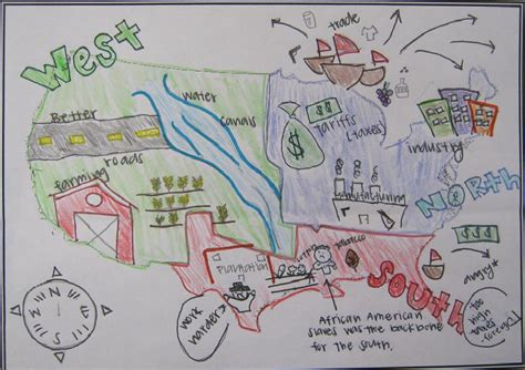 sectionalism map mr gray history sectionalism posters